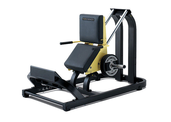Square Tube Hammer Strength Calf Raise Machine Seated Type With Steel Frame