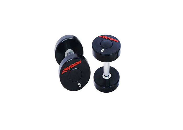 Gym Use Black Crossfit PU Coated Dumbbell Set 2.5KG - 50KG Type Optional