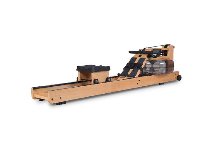 Commercial Cardio Deluxe Wooden Water Rower Rowing Machine For Gym